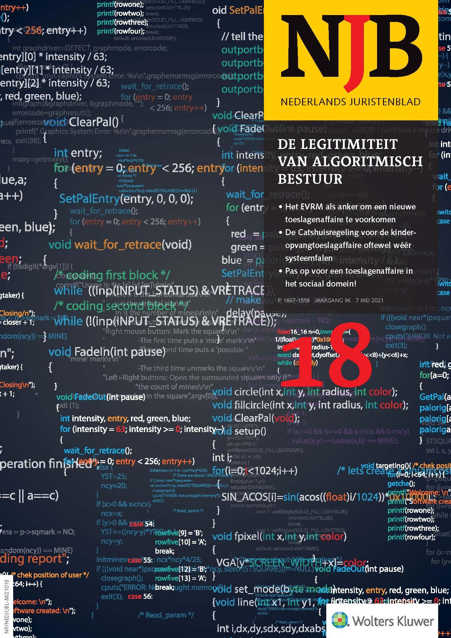 De legitimiteit van het algoritmisch bestuur - Een systematisch overzicht van bedreigingen en oplossingsrichtingen